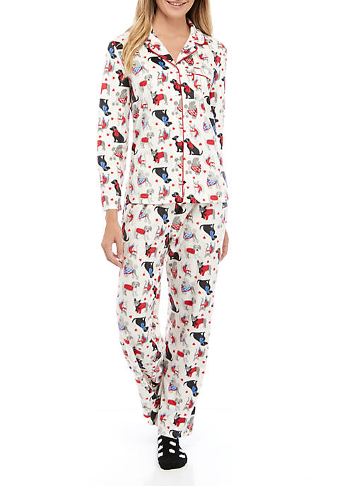 Karen Neuburger Minky Pajama Set with Socks