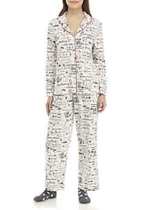 Petite Knit Pajama Set with Socks