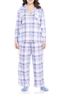 Plus Size Knit Pajama Set with Socks