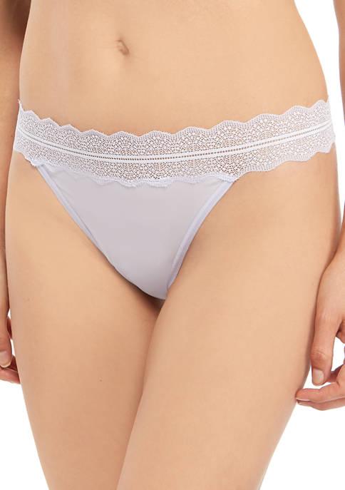 Calvin Klein Womens Micro Scallop Lace High Waist