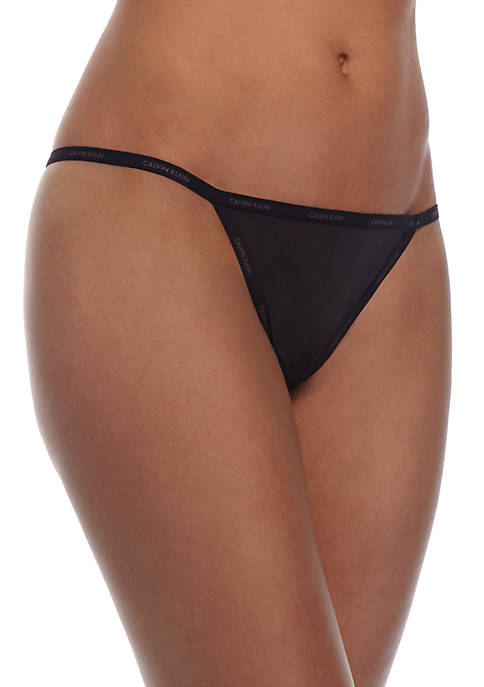 Calvin Klein Sheer Marquisette String Thong