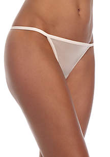 Sheer Marquisette String Thong - QF1681