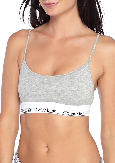 b9c76189f9 Calvin Klein Modern Cotton Skinny Strap Bralette