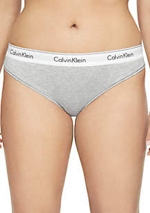 Plus Size Modern Cotton Thong