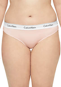 Calvin Klein Plus Size Modern Cotton Thong