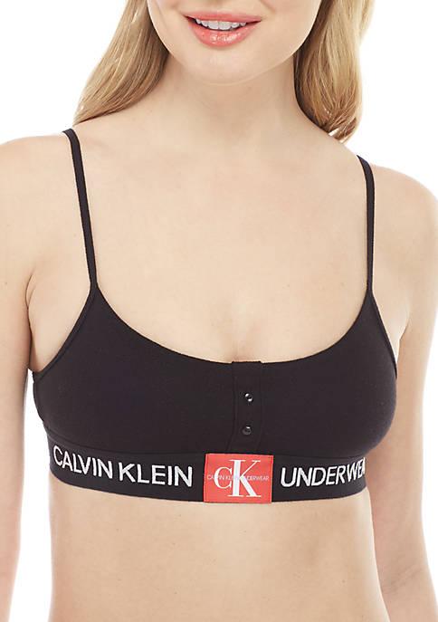 Calvin Klein Monogram Mesh Unline Bralette