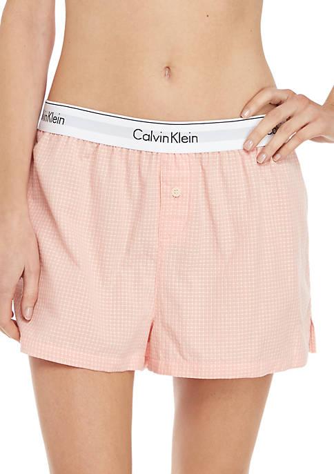 Woven Cotton Sleep Shorts
