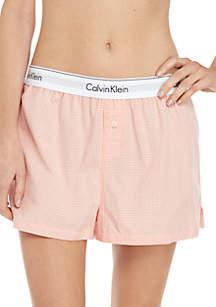 Calvin Klein Woven Cotton Sleep Shorts