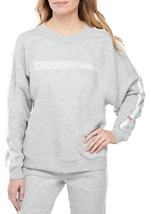 Calvin Klein Long Sleeve Lounge Sweatshirt