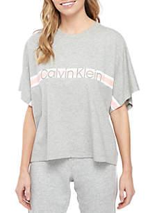 Calvin Klein Coordinating Short Sleeve Crew Neck Top