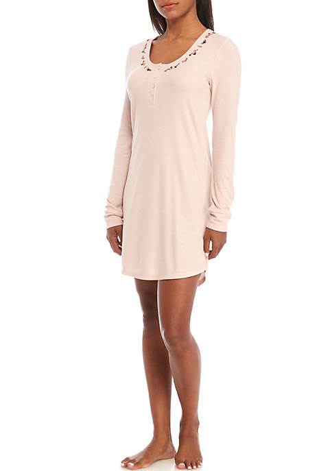Jessica Simpson Wallflower Long Sleeve Sleepshirt
