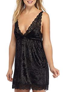 Jessica Simpson Midnight Kiss Velvet Chemise