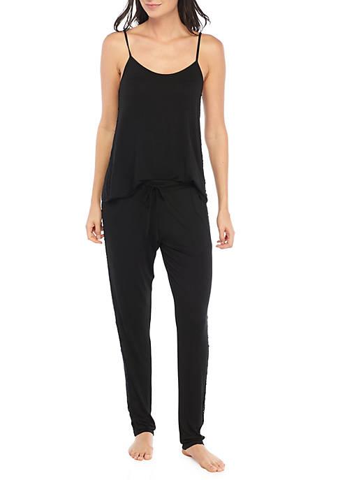 Jessica Simpson Lace Side Cami Pajama Set