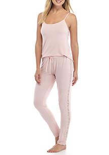Lace Side Cami Pajama Set