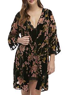 Burnout Velvet Robe