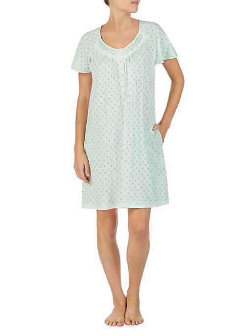 Aria Short Sleeve Cotton Night Gown