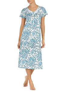 Aria Short Sleeve Ballet Nightgown