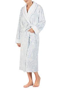 Long Damask Wrap Robe