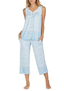 Aria 2 Piece Sleeveless Capri Pajama Set Belk
