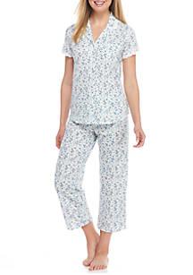 Aria Short Sleeve Capri Pajama Set Belk
