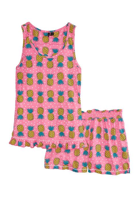 Kensie 2 Piece Sleeveless Top and Boxer Pajama