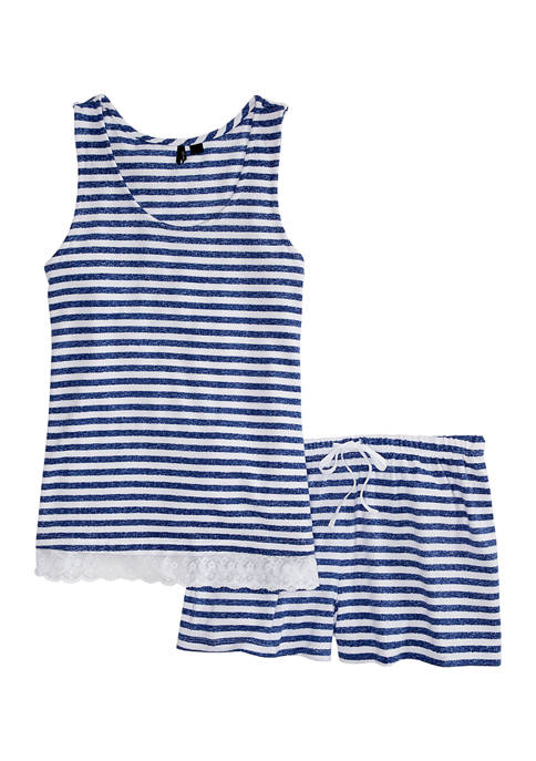 Kensie 2 Piece Sleeveless Top and Boxer Set