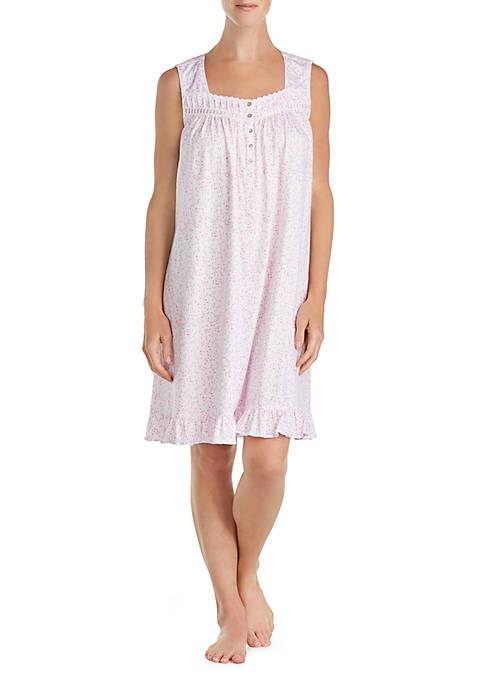 Miss Elaine Tricot Flutter Sleeve Long Gown   belk