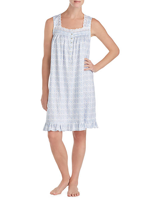 Eileen West Sleeveless Jersey Short Night Gown