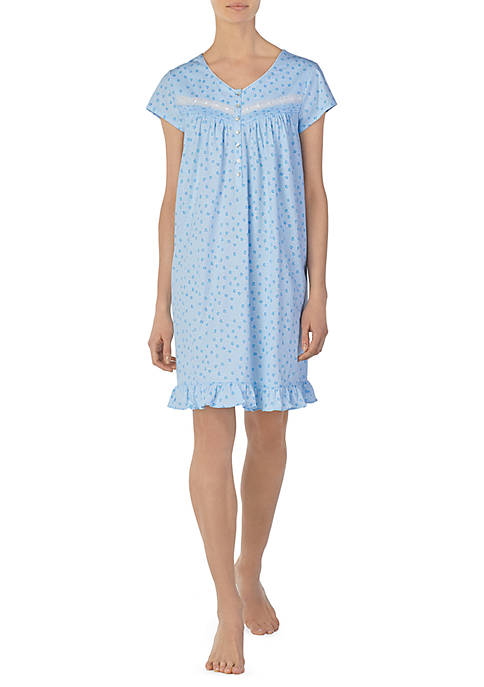 Eileen West Short Sleeve Jersey Night Gown