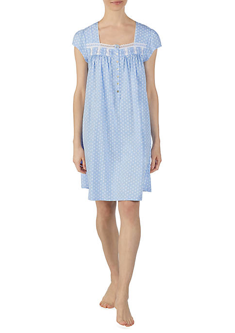 Eileen West Short Sleeve Cotton Jersey Night Gown