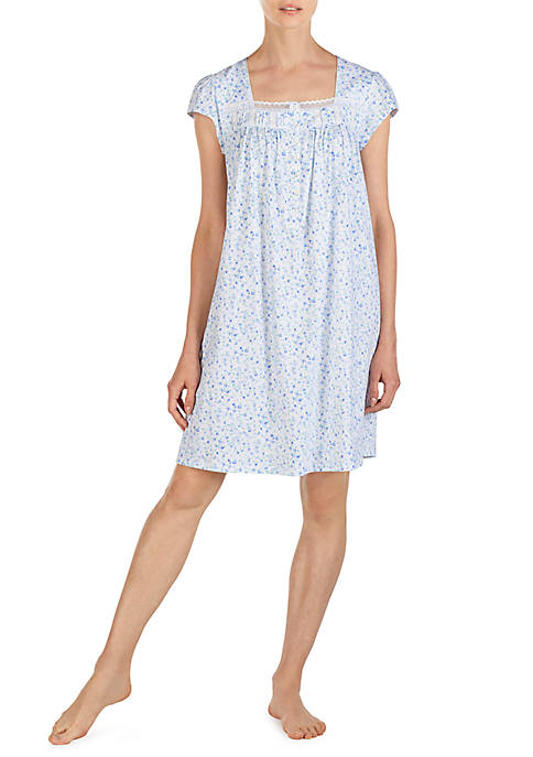 Eileen West Short Sleeve Cotton Jersey Night Gown