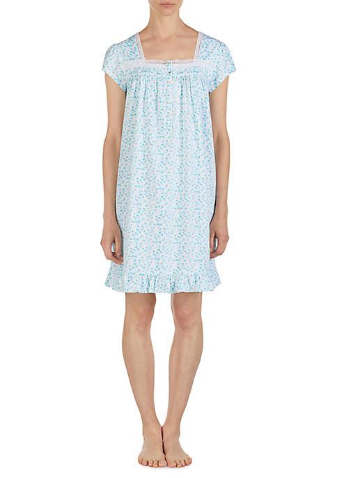 Eileen West Short Sleeve Cotton Jersey Sleep Gown