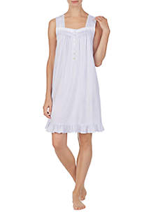 Eileen West Short Sleeveless Nightgown