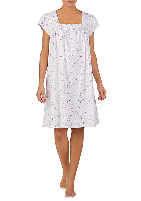 Short Sleeve Knit Nightgown