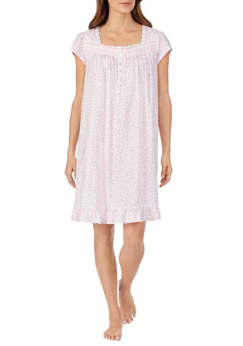 Eileen West Womens Cotton Knit Short Nightgown