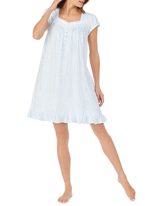 Eileen West Short Sleeve Chemise Nightdress