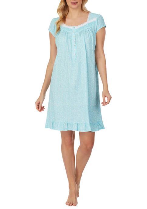 Eileen West 100% Cotton Knit Short Nightgown