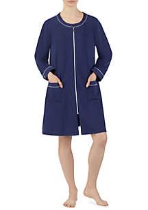 Long Sleeve Short Zip Robe