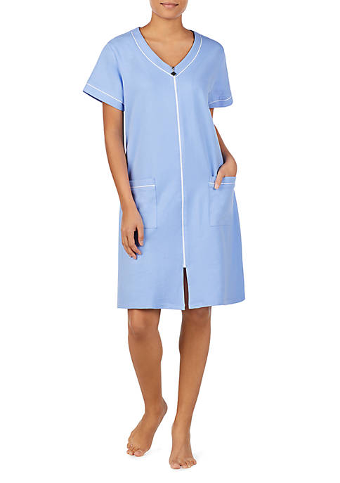 Eileen West Short Sleeve Zip Robe