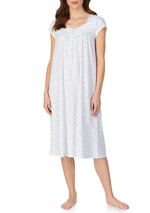 Eileen West Cotton Jersey Cap Sleeve Nightgown