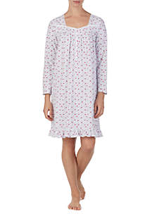 Short Cotton Knit Sleep Gown