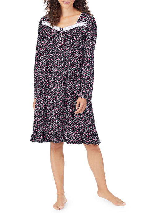 Eileen West Long Sleeve Cotton Night Gown