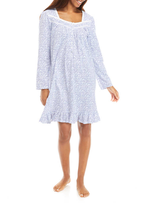 Eileen West Long Sleeve Cotton Knit Nightgown