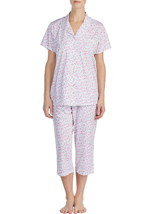 Eileen West 2-Piece Short Sleeve Pajama Set
