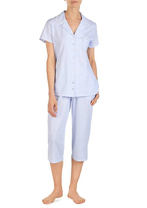 Eileen West Cap Sleeve Capri Pajama Set