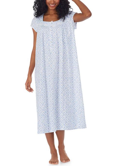 Eileen West Cap Sleeve Jersey Nightgown