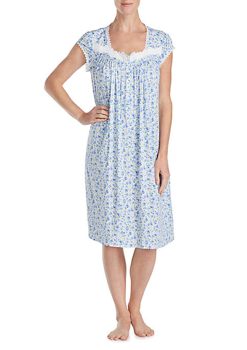Eileen West Short Sleeve Modal Waltz Night Gown