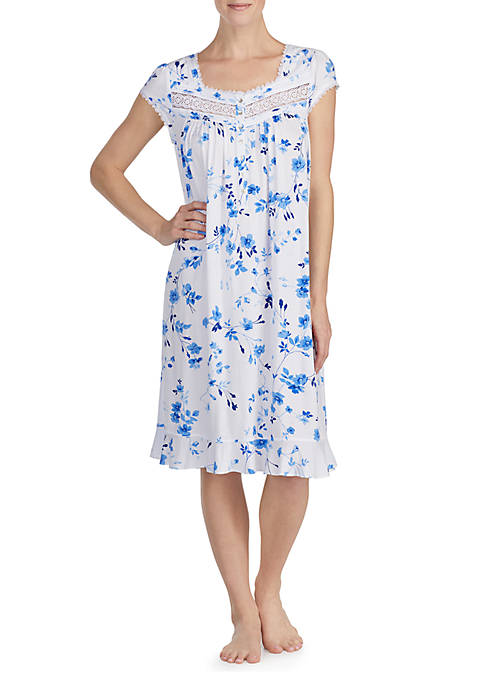 Eileen West Short Sleeve Modal Waltz Gown
