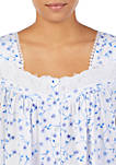 Womens Square Neck Short Cap Sleeve Nightgown