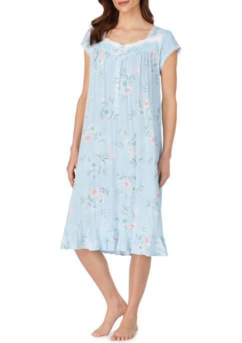Eileen West Cap Sleeve Knit Waltz Night Gown